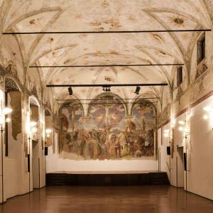 Salone Affreschi - Chiostro San Barnaba Milano - Diritti fotografici www.ichiostri.net
